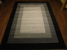 Modern Approx 8x5ft 160cmx230cm Woven Backed Squares Top Quality Rugs Black/Grey